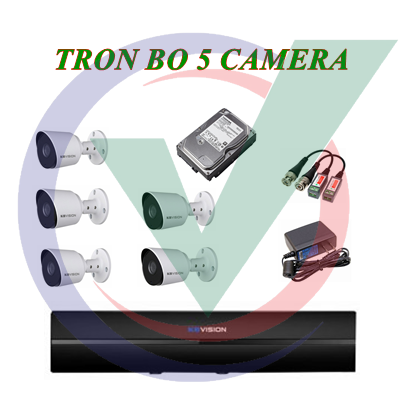 Trọn Bộ 5 Camera 2.0MP
