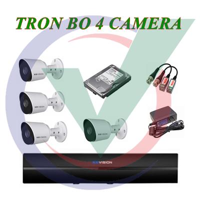 Trọn Bộ 4 Camera 2.0MP